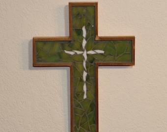 Baptism Gift / First Communion Gift / Religious Gift / Wooden Cross / Mosaic Cross / Christian Gift / Mother's Day Gift / Wall Cross