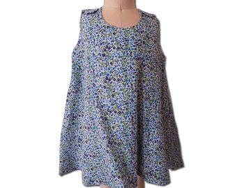 FINAL SALE Blue floral print fully lined A line dress. Size 3T. PN-009