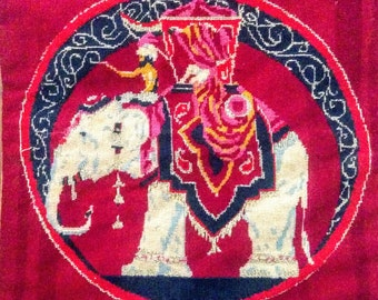 Needlepoint Indian Elephant
