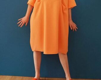 Peach pocket dress
