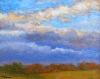 "Original Oil Painting Framed Landscape ""Falling Light"""