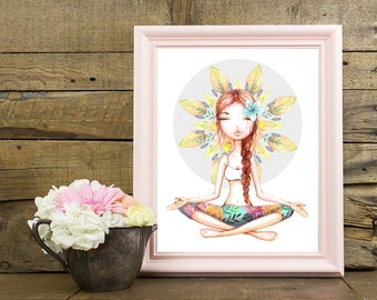 Yoga Wall Art yoga wall decor | etsy