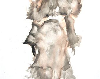 Fringe - Fashion illustration - Art - Portrait - Painting