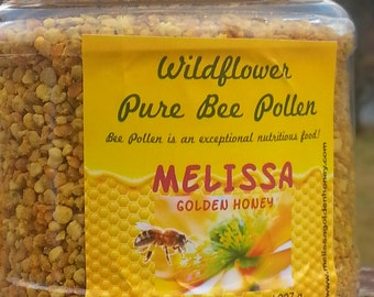 Pure Bee Pollen, Super-Food, Raw and Natural from Wildflowers, Wt 8 oz. / 227 g