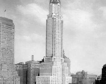 "1930 Chrysler Building, New York City, NY Vintage Photograph 13"" x 19"" Reprint"