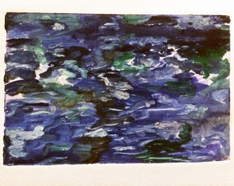 Abstract Water Monoprint