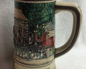 Anheuser-Busch Budweiser National Historical Landmark Series Stein - Grant's Cabin St. Louis (#006)