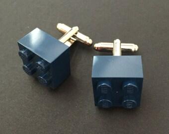 Lego cuff links - Navy Blue