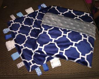 Modern Minky Baby Blanket, Baby Boy Blanket, Swaddle Blanket, Lovey Blanket Ready to Ship
