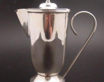 BAUHAUS - Jug - design ALBERT REIMANN - silver plated copper pitcher / decanter - German modernism - Reimann School - Art Deco avant-garde