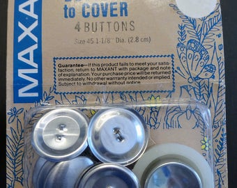 Maxant Buttons to Cover Silver