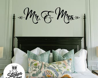 Mr & Mrs Decal - Bedroom Wall Decal