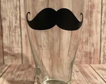 Mustache Glassware