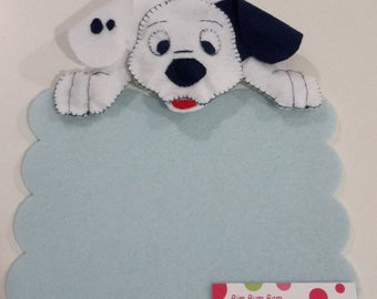 Stitchable baby-Dalmatian, personalized with name
