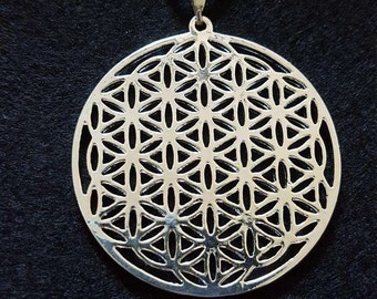 Flower of Life Pendant, Sacred Geometry, Yoga necklace, 18k Silver Plated