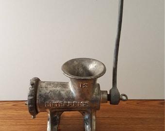 Vintage Cast Iron Enterprise Food/Meat Grinder No. 12