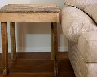 Reclaimed Pallet Wood End Table or Nightstand
