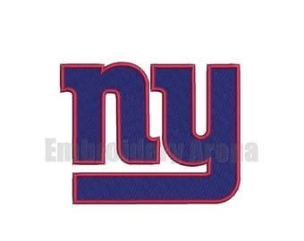 Football embroidery design - (NY Giants) - instant DOWNLOAD digital file