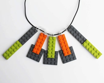 Colourful necklace, bright coloured