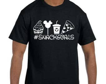 Snack Goals-Disney Shirt, Vacation, Disney Cruise, Adult Shirt, Kids Shirts, Disney Land, Disney World, Mickey Mouse, Minnie Mouse