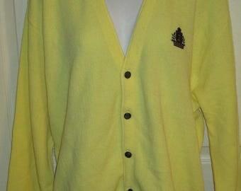 Yellow cardigan | Etsy
