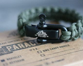 Cobra Stitch Reflective Green - Original Yet.is Paracord Bracelet