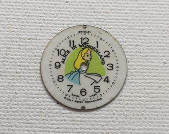 Alice in Wonderland vintage watch face