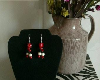 unique button earrings
