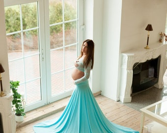 Elsa maternity dress long sleeves/ maternity gown / photoshoot