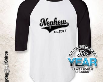 Nephew Since (Any Year), Nephew Gift, Nephew Birthday, Nephew tshirt, Nephew Gift Idea, Baby Shower, Pregnancy