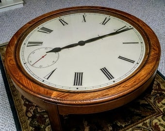 Howard Miller Clock Coffee Table 612 680 Vintage 1980 S In Excellent Original Condition