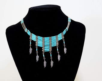 Sterling Silver Turquoise Necklace-Native American