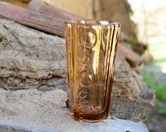 Glass vase, Brown glass vase, Vintage glass vase, Vintage large vase, Table decor, Clear glass vase, Art vase, Vintage vase, Brown vase