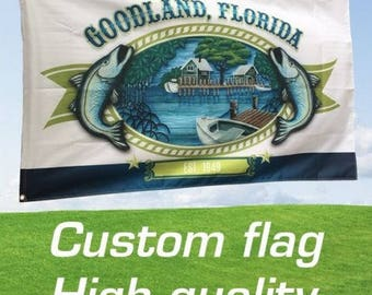 Custom Printed Boat Flags - Vendors, Festivals, Businesses, Bands, Clubs, Teams, Weddings, Parties, Special Occasions - Your Design or Logo!