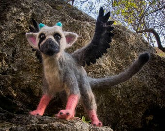 Made to order - Trico the last guardian poseable felting figure