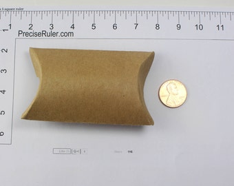 Kraft Paper Pillow Favor Gift Box for Jewelry lot of 10