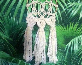 SALE: Dream catcher macrame and lace - free shipping