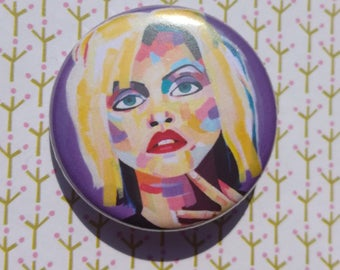 Blondie pin badge