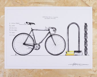 Bicycle art print - Dom forever