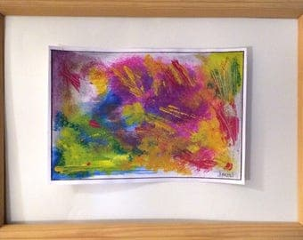 Painting Gouache abstract very colorful