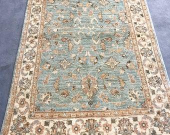 Turkish Oushak Rug - blue - 4x6