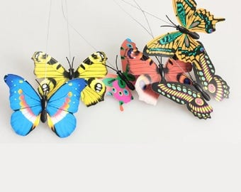 1 garden decoration high quality Solar Powered Dancing Flying Fluttering Butterfly q