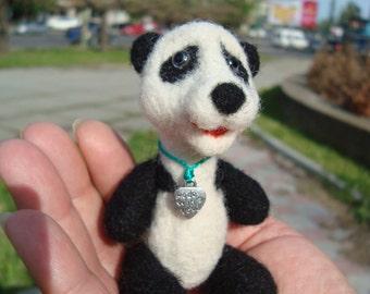 Panda, Needle felted panda, Wool panda, Panda gift, Panda miniature, Cute animals