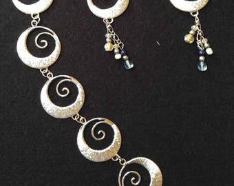Set of Earrings and Bracelet
