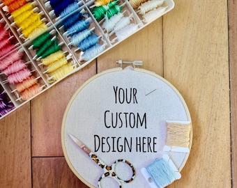 Custom Embroidery Design Hoop