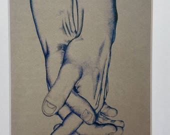 Clasped Hands 8x10 Print