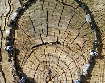Viking lampwork beaded necklace