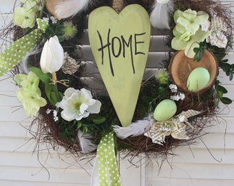 "Spring wreath ""Home"""