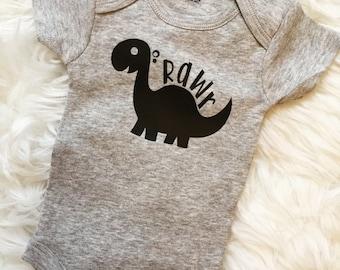 Dinosaur Onesie Baby Gift Rawr Onesie Baby Shower
