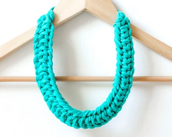 jersey knitted necklace- twisted knot